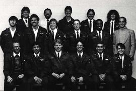 The members of the second year Aviation class