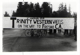 Shot of the banner for the Trinity Western Wheels