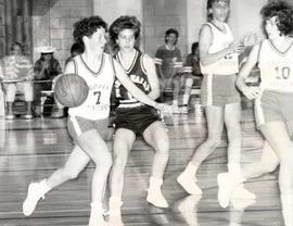 Women's basketball game in the gymnasium