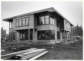 The rear elevation of the construction of Mattson Centre