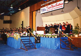 Graduation ceremony taking place in the gym