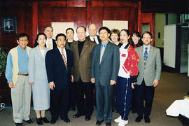 President Snider, various TWU professors, and visitors