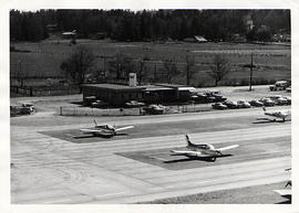 Aerial shot of the Langley Airport