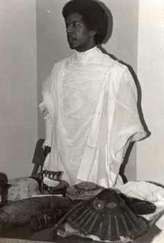 Aklilu Mulat in Ethiopian clothing