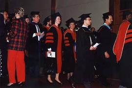 Faculty processional at graduation