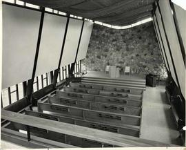The interior of the empty chapel